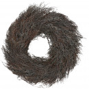 wholesale Decoration: Kranz Erika, thick, diameter 50cm, nature
